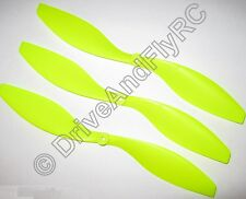 "3x ""Tuff Prop"" 8x4.3 Slow Fly Neon Yellow  8043  203x109mm Yak, Extra GWS Type"