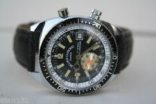 VTG SICURA SWISS BREITLING 17J MENS CHRONOGRAPH WATCH ROTATING CASE DIVERS BEZEL