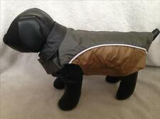 Manteau imperméable pour chien taille 32 cm - Gris et brun - Neuf