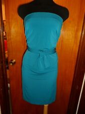 Victoria's Secret Moda International Teal Convertible Multi Way Cowl Dress S New