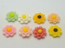 """50 Mixed Color Layered Flower Resin Flatback Cabochon 13mm(0.52"""")"""