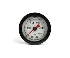 "Marshall Gauge 0-100 Psi Fuel / Oil Pressure White & Black 1.5"" (Liquid Filled)"