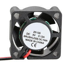 1 Pc Mini Cooler Brushless DC Cooling Fan 25*25*10mm Radiator 2510S 5V New