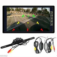 "9"" Car TFT LCD Mirror Monitor + Wireless Reverse Car Rear View Backup Camera Kit"
