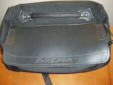 Genuine Harley Davidson Travel Barrel Bag Luggage Rack Carrier Flap w/ Zip READ
