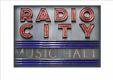 Radio city music hall new york city reproduction style vintage signe nyc sign usa