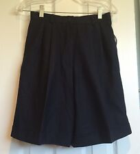 "NWT Talbots Petites Navy Blue Shorts 100% Wool Women's 6P Long Shorts 8"" Inseam"