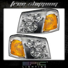 Fits 2002-09 GMC Envoy Headlights Headlamps Pair Left Right