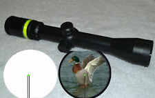 New 3-9x40 Fiber Optic Scope Green Triangle illuminated Rifle Scope + 20mm mount