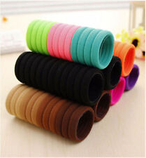 10pcs lot color Girl elastic hair accessories ties band rope ponytail bracelets