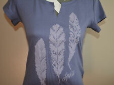 Levis Women's Feather Graphic Tee Shirt Lilac Small NWT