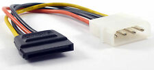 Power Supply Molex 4-pin Male HDD Socket to HDD/SSD SATA Female Power Connector