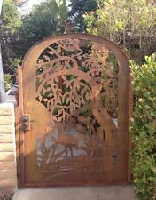Metal Art Gate Entry Custom Designer Walk Pedestrian Wrought Iron Steel Garden