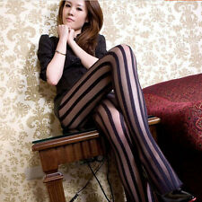 Sexy Slim Women Lace Vertical Striped Stockings Thigh-highs Panty-hose
