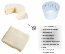 Brie Hard Cheese Full Making Kit + Mold With Follower + Thermometr