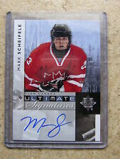 11-12 UD Ultimate Signatures Team Canada SP #US-SF MARK SCHEIFELE Rookie RC
