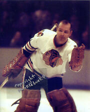 GLENN HALL Chicago Blackhawks Photo in action HOF #8 (c)