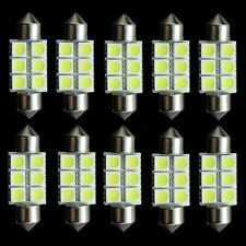10X Festoon 36mm 3W 270lm 6-SMD 5050 LED White Light Car License Plate Lamp 12V