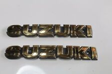 SUZUKI GS400 GS550 GS750 GS850 GS1000  Gas Tank Emblem gold new
