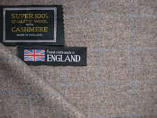 80%LAMBSWOOL & 20%CASHMERE AS ENGLISH COUNTRY SPORTING STYLE JACKETING FABRIC-2m
