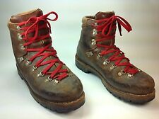 Men's Vintage MT10 Brown Leather Hiking Mountaineering Lace Up Boots Sz.11