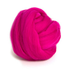 50g DYED MERINO WOOL TOP RASPBERRY PINK DREADS 64's SPINNING FELTING ROVING