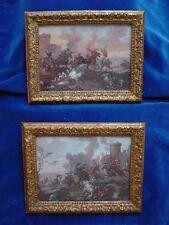 Pieter van Laer 1599-1642, del genere. COPPIA guazzi guerra * * per 1690 * Battle *