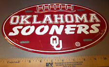 University of Oklahoma SOONERS football shaped metal Plate, made in the USA