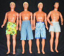 4/LOT   1990/1991  Ken Barbie Doll In SWIMSUIT  LOT