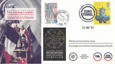 22 MAY 1991 RUNNING TUNNEL NORTH BREAKTHROUGH CHANNEL TUNNEL BTS COVER SH