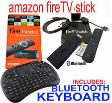 New factory sealed AMAZON FIRE TV STICK MOVIES with Wireless Keyboard / Trackpad