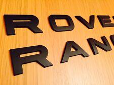 MATT BLACK RANGE ROVER LETTERING FOR EVOQUE SPORT P38 L322 BONNET BOOT 3D