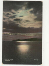 Sunset On The Bay Vancouver BC Canada Vintage Postcard US009