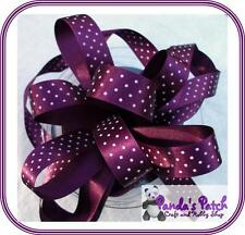 Micro Polka Dot Spotted Berisfords Satin Ribbon Choose Colours, Length and Width