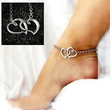 CUCKOLD HOTWIFE DOUBLE HEART ANKLE BRACELET ANKLET SEXY
