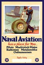 Enlist in Naval Aviation WWII Historic Poster 16x24