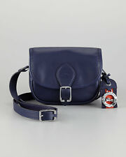 Longchamp Au Sultan $395 Leather Small Cross Body Bag Crossbody Navy Blue