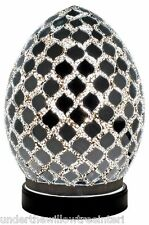 NEW Fabulous Mini Mosaic Glass Crackle Mirror Tile Egg Table Lamp ,Desk ,Bedside