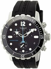 New Tissot Seastar Chronograph Black Rubber Strap Men's Watch T0664171705700