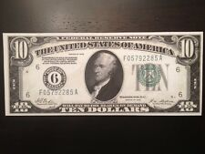 Reproduction $10 Bill Federal Reserve Note 1928 Atlanta Hamilton & Treasury Ten