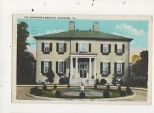 The Governors Mansion Richmond Va USA 1934 Postcard 898a