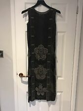 Antique Vintage 1920's Black Silk Beaded Flapper Dress. Amazing Condition!