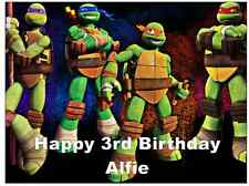 Teenage Mutant Ninja Turtles A4 Personalizado Cake Topper Comestibles De Oblea De Papel