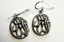 Ohrringe ALLAH Schriftzeichen Symbol ECHT 925 Silber ISLAM Moslem Religion SS263