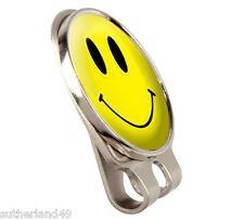 Asbri Yellow Smiley Golf Cap Clip / Society Prize Hat Visor