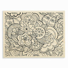 LAUREL BURCH CAT Garden Wood Mounted Rubber Stamp Stampendous LBR002 NEW