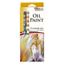 US Art Supply® 12 Color 10ml Tubes Artist Oil Paint Set Painting Pigment