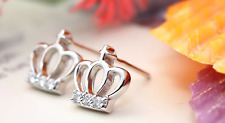 Royal Crown Rose Gold GP 0.5 Cts Micro-inlay Cubic Zirconia Stud Earring