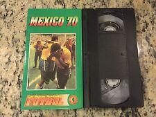 LOS MEJORES MUNDIALES DE FUTBOL #1 MEXICO '70 RARE VHS! SOCCER 1970 HISTORICAL!