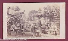 PHOTOGRAPHIE CDV - 060317 - Photographie de dessin de Chine China - Métier